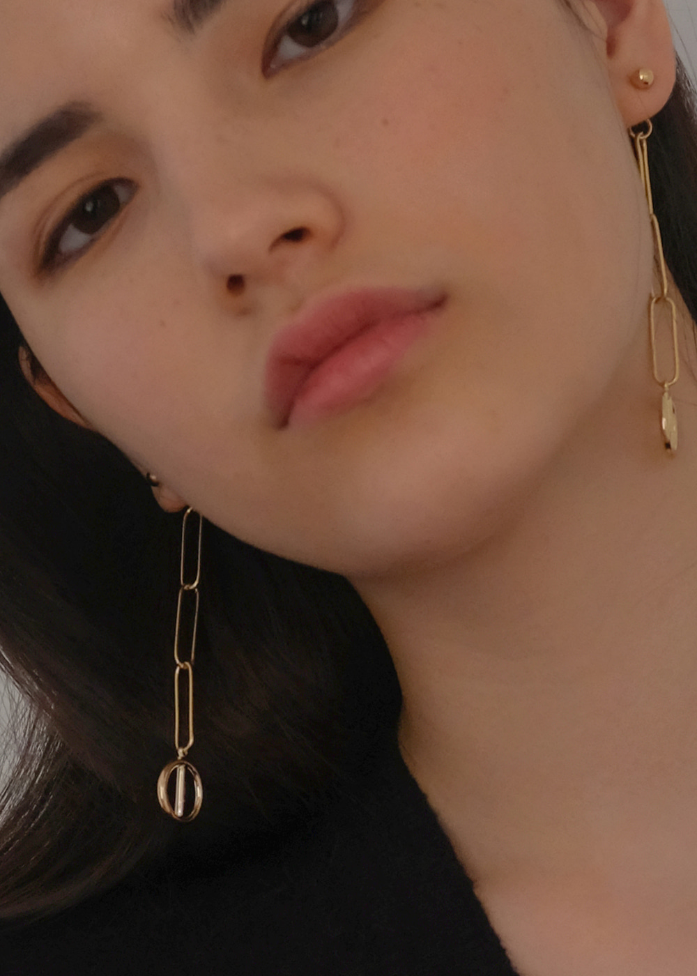 share chain earrings