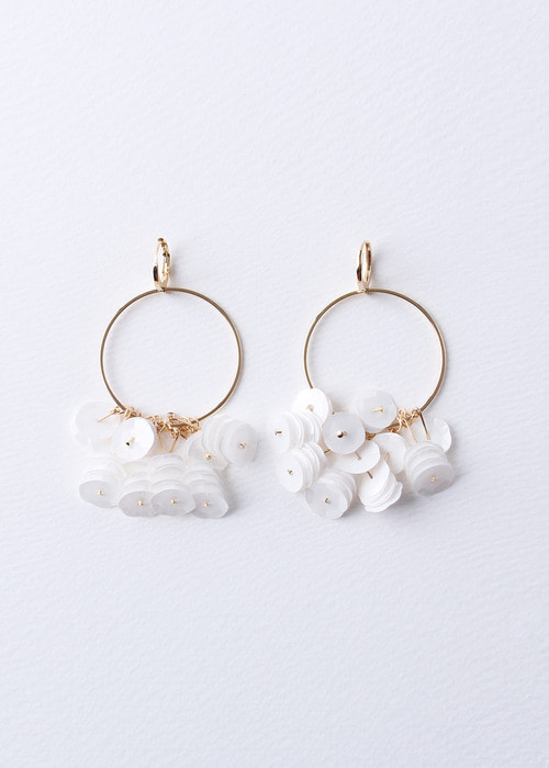 Hoop Spangle Petal Earrings