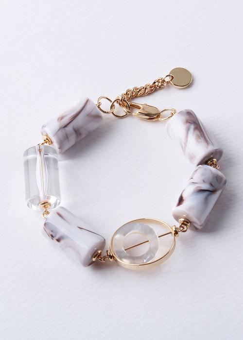 Marble Hammer Glass Bangle