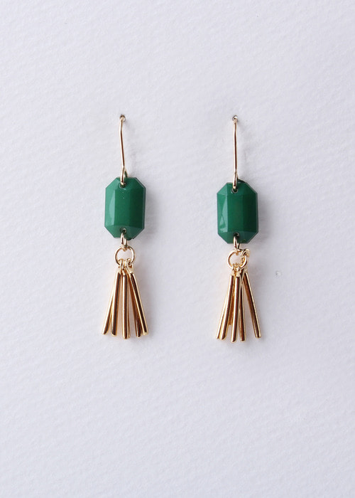 Acrylic Tassel Earrings (GREEN)