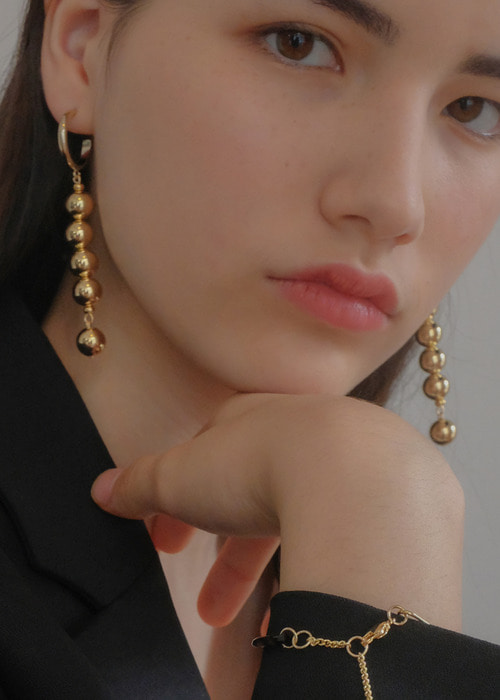 drop glam ball earrings