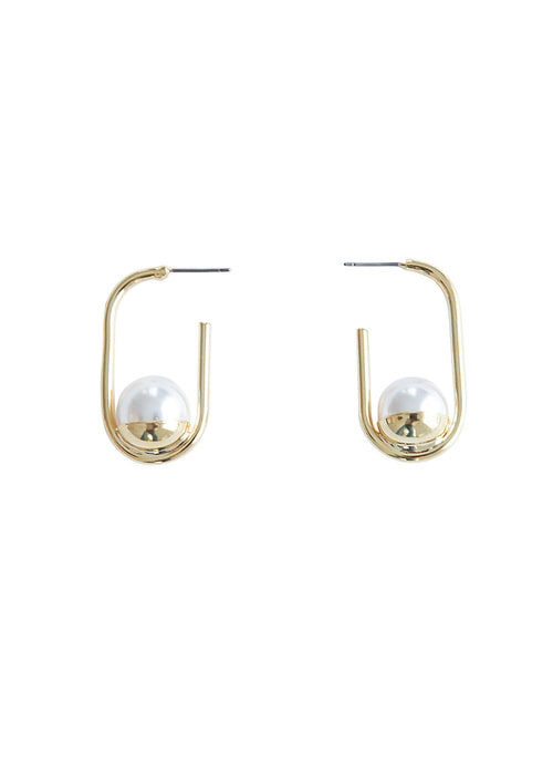 Pl Cup Open Earrings _ Gold